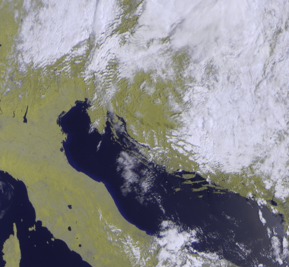 Adriatic, as seen from the Meteor M2 satellite