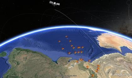 Aircraft Traffic Tracking Via Satellite